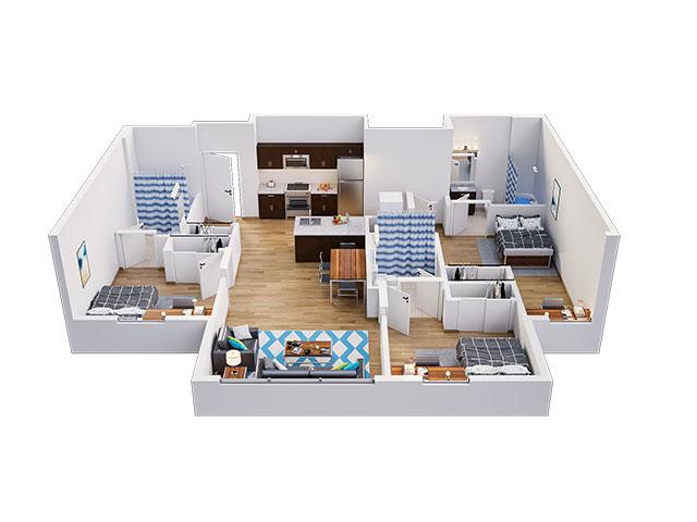 Madison A Floor plan layout