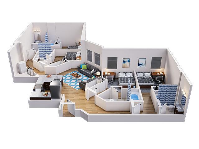 Lark A Floor plan layout