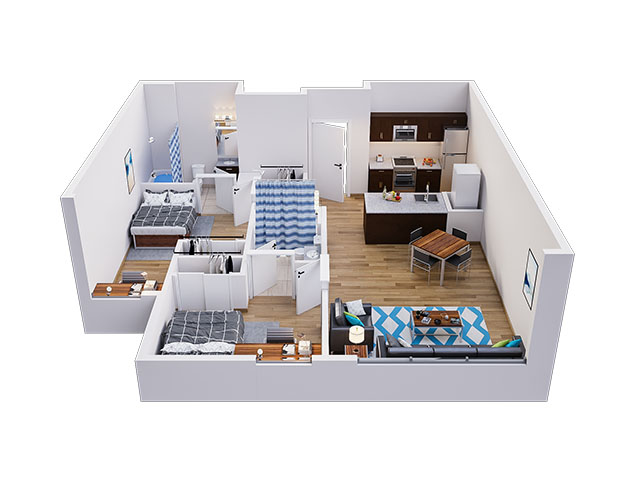 Pearl B Floor plan layout