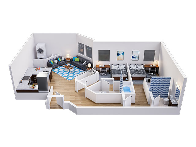 Pearl A Floor plan layout