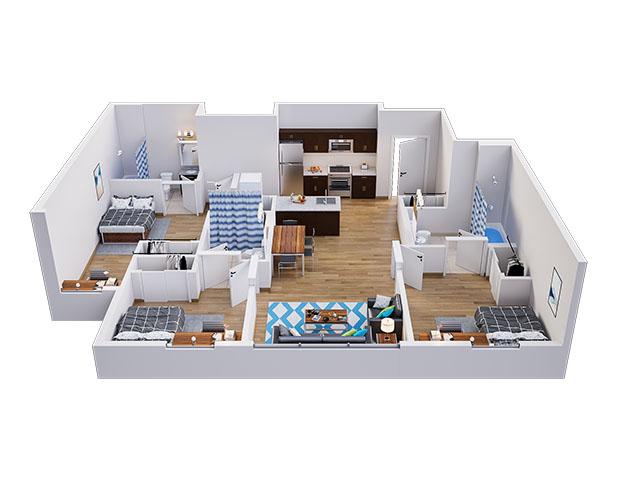 Madison B Floor plan layout